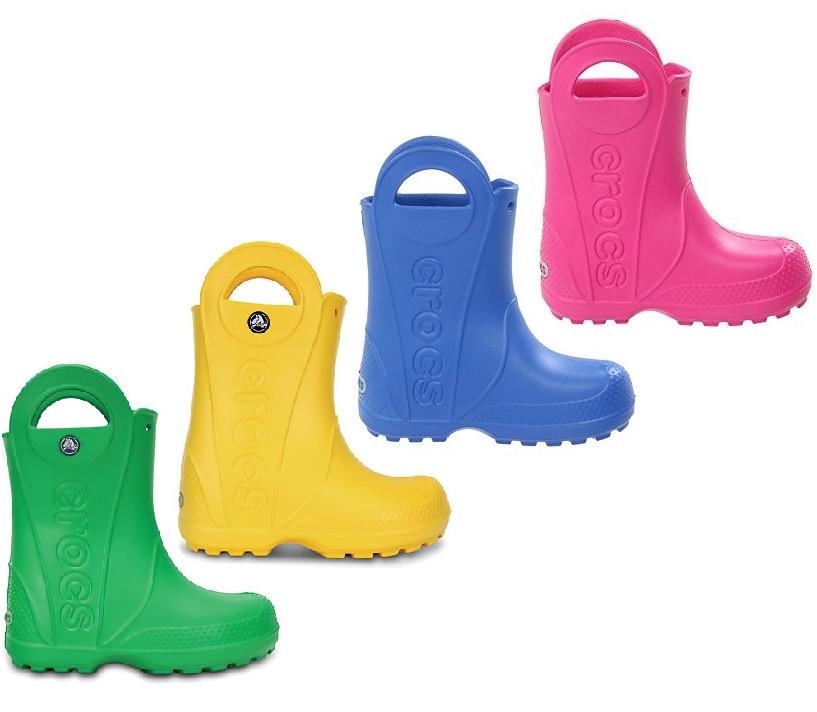 7d9db2463 Сапоги резиновые детские Crocs Kids Handle It Rain Boot / дождевики с  ручками - ProCrocs.
