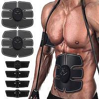 Стимулятор мышц живота/руки EMS Тренировочный Электрический тренер тела Формирователь тела