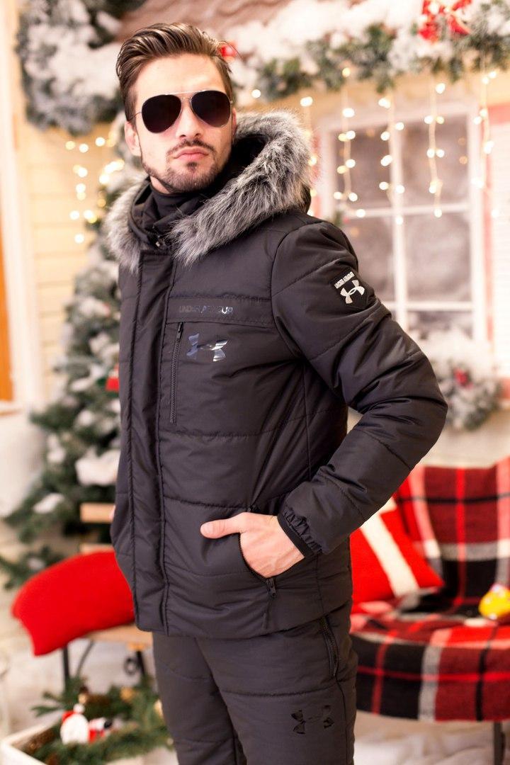 Мужской горнолыжный костюм теплая куртка аляска с мехом и полукомбинезон, серия папа, мама, дети