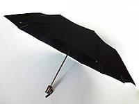 Зонт черный Yusimeng A-312D три сложения полуавтомат
