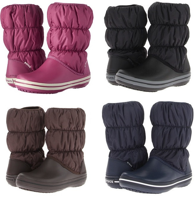 d9ccde9a Сапоги зимние женские непромокаемые дутики Crocs Women's Winter Puff Boot