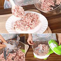 KCASA KC-FPM18 Многофункциональный кухонный ручной кухонный комбайн Бытовая мясная дробилка Овощной измельчитель говядины Quick Shredder Cutter яйца, фото 3