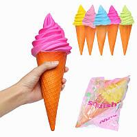 YunXin Squishy Jumbo Ice Cream Cone 30см Медленный рост с коллекцией подарков