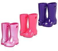 Сапоги резиновые для девочки Crocs Girls Wellie Rain Boot / дождевики на каблучке