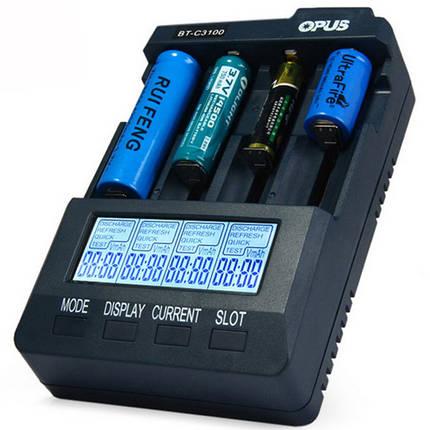 Opus BT-C3100 V2.2 4Slots LCD Дисплей Smart Intelligent Universal Батарея Зарядное устройство, фото 2