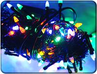 Гирлянда LED Карандаш 200 ламп(черный провод)