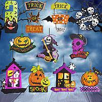 Halloween Spoof Висячие украшения Pumpkin Ghost Череп Дверь ведьмы Вешалка Хэллоуин Поставки