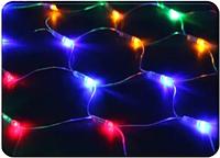 Гирлянда 200 LED сетка 3х3 м, прозрачный провод