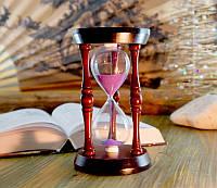 Песочные часы фиолетовый песок 140 секунд (10х17,3 см)