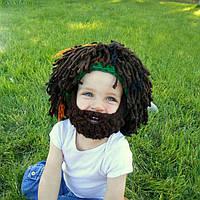 Хэллоуин Борода Волосы Форма Шерстяная вязаная Шапка Шпаргалка Усы Шапка Для взрослых Дети