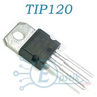 TIP120, Транзистор биполярный, NPN 60В 5А 65Вт, TO-220