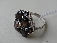 Серебряное кольцо с золотой пластинкой и Раух Топазом