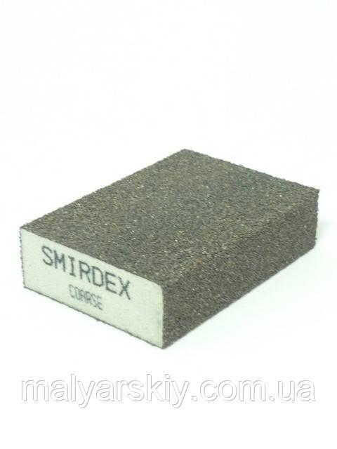 Абразивна губка 4 сторони 100*70*25мм  ГРУБА  SMIRDEX