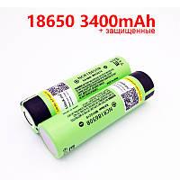 2шт аккумуляторы 18650 3400 mAh NCR18650B Panasonic