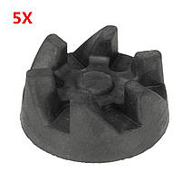 5Pcs Blender Резиновая муфта сцепления 31 мм 6 Зубчатая передача для кухонного блендера
