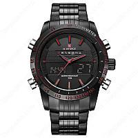 Мужские часы Naviforce Black, модель NF9024BBR, цвет корпуса черный, фото 1