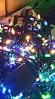 Яркая новогодняя гирлянда 100 LED мультицвет