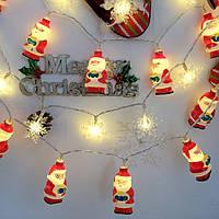 1.5M / 3M LED Рождественские огни Санта-Клауса LED Фея огни для праздничной вечеринки Новогоднее украшение