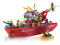 Конструктор Brick 909 Пожарный катер 361 деталей
