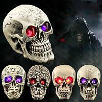 Хэллоуин Human Prop Resin Череп LED Ночные огни Декоративные новички Шутники Хеллоуин Поставки
