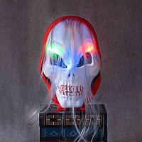 Хэллоуин Ужас Череп Призрак Светодиодный Маска Зомби Красный платок hHeadband Люминесцентный костюм