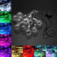 4M 10LEDs Shamped Indoor На открытом воздухе Fairy String Light для рождественской вечеринки AC100V-240V
