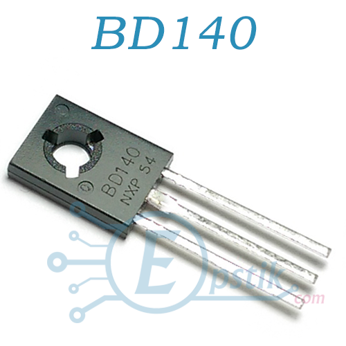 BD140, Транзистор биполярный, PNP 80В 1.5А, 12.5Вт, TO-126