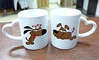 """Парные чашки """"Влюбленные собачки"""""""