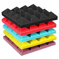 25x25x5cm Мини-пирамида Звукоизоляция Звукоизоляция Студийная пена Плитка