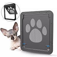 37x42cm Large Medium Собака Кот Окно для дверных проемов для домашних животных ABS Магнитный авто Замок Закрылки