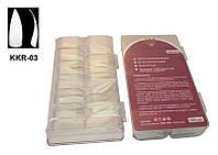 Типсы стилеты белые (б\к) 500 шт в упаковке, типсы YRE KKR-03, наращивание ногтей
