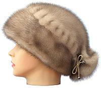Женская норковая шапка,Конфетка бантик (колотый лед)