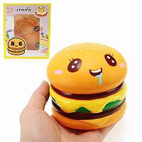 Xinda Squishy Гамбургер 9см Бюргерская коллекция медленно растет с упаковкой Подарочный декор Мягкая игрушка