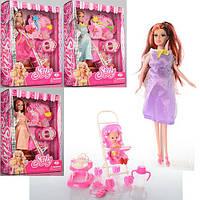 Кукла KX8800 (36шт) беременная, 30см, пупс 5см, дочка 10см,бут,коляс,ходун,аксес, в кор-ке,24-31,5-8