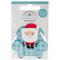 Наклейки 3D - Doodlebug - Milk & Cookies Santa's Visit