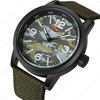 Мужские часы Naviforce Army модель NF9080BGNGN, цвет хаки, фото 1