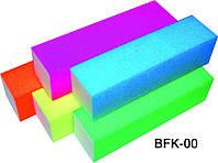 Баф 4-х сторонний кислотный цветной 10 шт в упаковке, баф полировочный YRE BFK-00, бафики для ногтей
