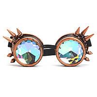 3 цвета Фестивали Rave Kaleidoscope Goggles Rainbow Очки Кристалл призма Дифракция