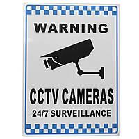 CCTV предупреждающий знак безопасности видеонаблюдения камера Safety Sign Reflactive Metal - 1TopShop