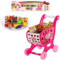 Тележка 938-2 (96шт) супермаркет, продукты, в кульке, 30-40-7см