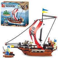 Конструктор SLUBAN M38-B0279 (32шт) Пират, корабль, фигурки, 226 дет, в кор-ке, 28,5-28,5-5,5см