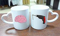 """Парные чашки """"Мозги и дрель"""""""