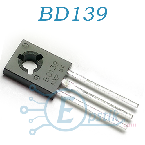 BD139, транзистор биполярный, NPN, 80В, 1.5А, TO126