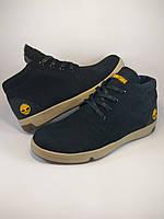 Timberland ботинки из натуральной кожи нубук на меху чёрный