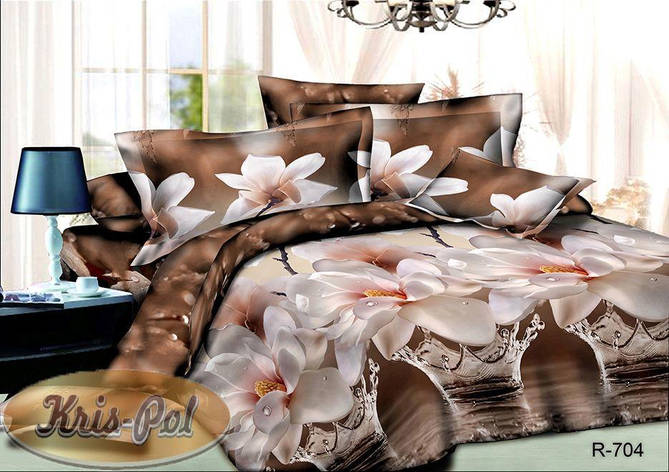 Комплект постельного белья семейный ранфорс (хлопок) TM KRISPOL Украина  6118704, фото 2