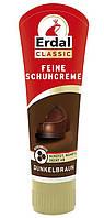 Крем - полироль для обуви с натуральным пчелиным воском Коричневый Erdal Feine Schuhcreme Dunkelbraun, 75 ml