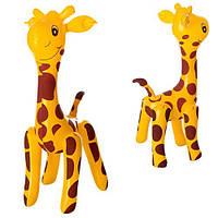 Надувная игрушка MSW 025 (600шт) жираф 58см, в кульке,17-13см