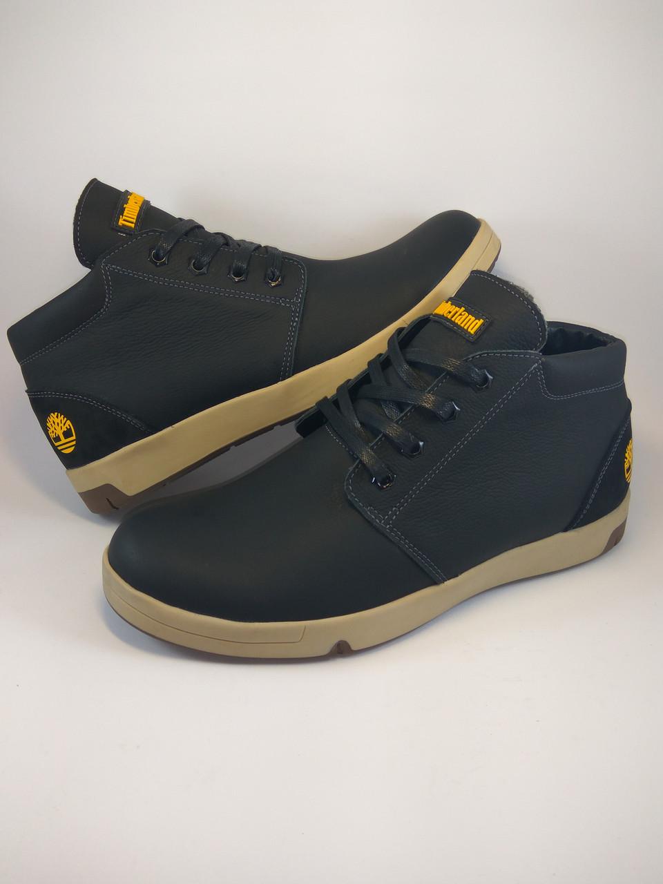 Timberland ботинки мужские реплика из натуральной кожи чёрный - Интернет  магазин