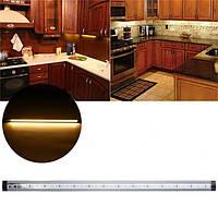 39 LED 50CM 2835 SMD Сенсорное управление регулировкой Теплый белый свет для шкафа AC100-240V до DC 12V