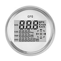 90MM GPS Водонепроницаемы Спидометр Показатель одометра Цифровой белый Для Авто Грузовик мотоцикл